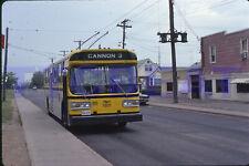 HAMILTON TROLLEY BUS SLIDE: HSR 7801 FLYER END OF CANNON ROUTE (1980 ORIGINAL)