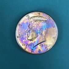 "1992-United States Of America Half Dollar KENNEDY""P""Rainbow Tone Gold&Pur/Colors"