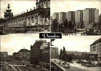 Dresden Sachsen DDR Mehrbildkarte ~1969 ua. Ernst-Thälmann-Str., Freiberger Str.