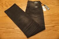 NWT MEN'S BUFFALO DAVID BITTON JEANS Multiple Sizes Six-X Straight Stretch Black