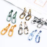 Trendy Women Earrings Acetate Acrylic Geometric Drop Earring Dangle Jewelry Gift