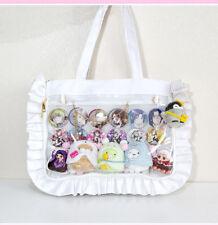 01bb8c49da7c Sweet Lolita Ruffles Canvas Ita Bag Transparency Clearly Handbag JK  Shoulder Bag