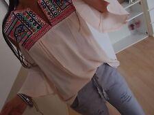 Bluse S M Neu Blogger Tunika Ibiza Italy Shirt Spitze Musthave Blumen 2017 Chic