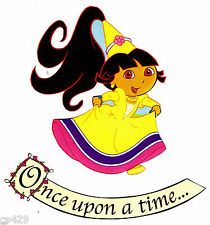 "5"" DORA PRINCESS ONCE UPON  A TIME SET  PREPASTED WALLPAPER BORDER CUT OUT"