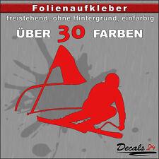 Skifahrer Aufkleber Folienaufkleber Auto/Motorrad Ski/Sport - 30 Farben - 10cm