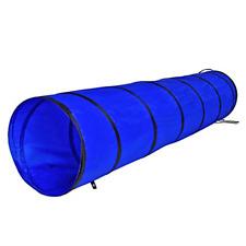 dibea Dog Tunnel Play Tunnel Dog Cave Agility Tunnel Blue Size S 200 x 40 cm
