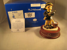 "M I Hummel  Autographed ""Fire Fighter""/Base 2003 Hum 2030 MIB"