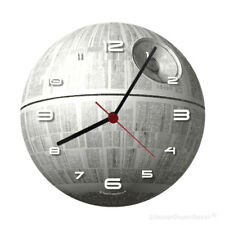 GLOW IN THE DARK DEATH STAR WALL CLOCK boys bedroom darth vader rogue one wars