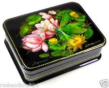 """Die Libelle"" Russische Lackmalerei Schatulle Russian lacquer box Lackdose"