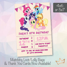 Personalised My Little Pony Birthday Party Invitations Invites