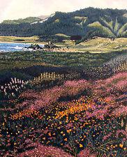 "Gordon Mortensen ""California Poppies"" Hand Signed Woodcut Fine Art '83 MakeOffer"