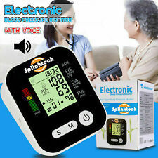 Digital Upper Arm Blood Pressure Monitor with LARGE CUFF & BATTERIES180 MEMORY