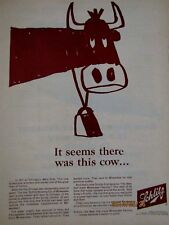 """1961 Schlitz Beer Is This Mrs O'leary's Cow ?-Original Print Ad 9 x 11"""""""