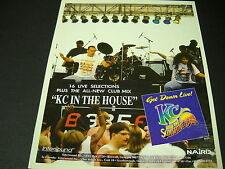 Kc And The Sunshine Band 1995 Promo Poster Ad Kc Is In The House Get Down Live