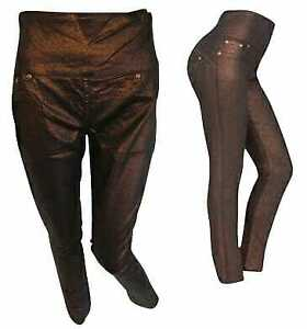 Womens jegging ,metallic finish in stretch fabric by AVON