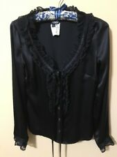 D&G Black Blouse. Made in Italy.  Size EU 42