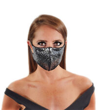 Silver Sequin Face Mask Made In USA! Light Breathable Fabric,Washable,Reusable!