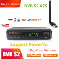 HD Sat Receiver Digital Satelliten GTMEDIA V7S DVB-S2 HDMI HDTV Youtube+USB WIFI