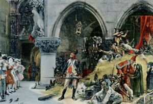 Napoleonic History..the french before the Ducal Palace, Venice... print..1906