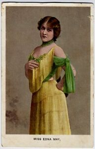 Miss Edna May - Theater Actress & Singer - vintage portrait Postcard