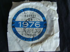 BOLLO 1976 ACI TASSA CIRCOLAZIONE VELOCIPEDI A MOTORE GUZZI VESPA BIANCHI EPOCA