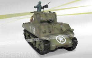 2.4Ghz RC 1/16 US M4A3 Sherman 105mm Howitzer Battle Tank w/Smoke & Sound RTR