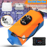 24V 5KW Car Digital LCD Car Air Diesel Heater RV Motorhome Silencer Fliter Kit
