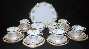 Foley Bone China Floral and Heavy Gilded #3898 21 Piece Tea Set