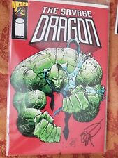THE SAVAGE DRAGON #1/2 Wizard Special Signed By ERIK LARSEN! NM W/COA