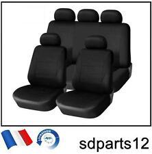 Pour VW Skoda Dacia 9 Pcs Housses Couvre Sieges Fabric Noir
