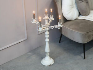 french country candleabra candlestick with 4 arms H67.5cm D31cm