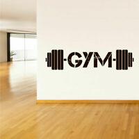 Wall Decal Vinyl Sticker Gym Gymnastics Muscle Sport Man Rod Barbell (Z3116)