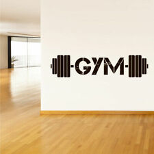 Wall Decal Vinyl Sticker Gym Gymnastics Muscle Sport Man Rod Barbell (Z3116)