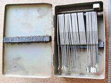 Vintage Gap Feeler Gauge gage Set 28 pieces in Aluminum Box Case Removeable VGC