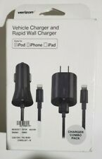Verizon Car Charger + Rapid Wall Charger Combo for micro USB