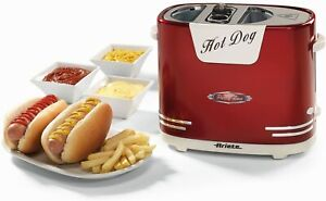 Ariete Party Time Hotdog Maker Party Geburtstag Wärmt Panini Wurstell 650 Watt