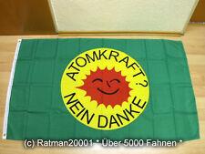 Fahnen Flagge Atomkraft nein Danke Grün - 90 x 150 cm