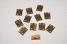 12 BRASS HINGES 3/4 NEW CLOCK PARTS MANTEL / SHELF / WALL CLOCK PARTS