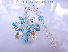 m/w Swarovski Aquamarine and AB Lily Octagon Star SunCatcher Lilli Heart Designs