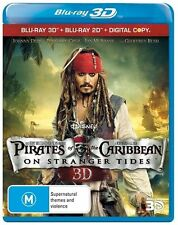 *NEW & Sealed* Pirates Of The Caribbean On Stranger Tides 3D (Blu-ray 2-Disc) AU