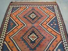 "Delightful Persian Kashgaie kilim oriental carpet (  7ft.8"" x 5ft. )"