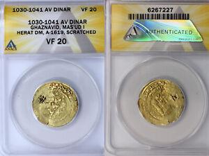 1030-1041 Ghaznavid Heret Mint Gold Dinar ANACS VF20