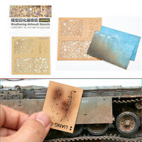 Weathering Airbrush Stencils Tools for 1/35 1/48 1/72 Scale Model Modification