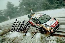 Mads OSTBERG & Jonas ANDERSSON WRC DRIVER SIGNED AUTOGRAPH 12x8 Photo AFTAL COA
