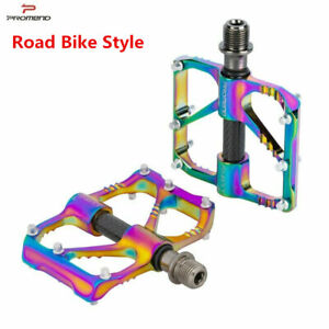 PROMEND Carbon Tube Titanium Axis Bicycle Pedals MTB Road Bike Pedals 3 Bearings