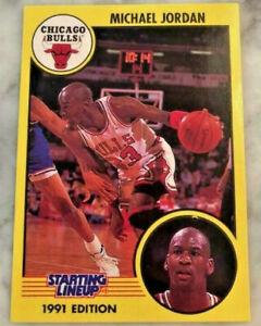 Awesome 1991 Michael Jordan STARTING LINEUP Card White Jersey PSA Worthy Bulls