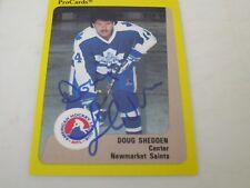 DOUG SHEDDEN AUTOGRAPHED 1989 AHL PROCARDS CARD-NEWMARKET SAINTS
