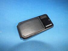Back Cover Hülle Samsung GT S5230 Abdeckung Akkudeckel mit Leder Schwarz Black