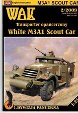Card Model Kit – White M3A1 Scout Car /APC.