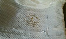 BNWT BEAUTIFUL BABY WHITE SHAWL CHRISTENING BLANKET EMBROIDERED PERSONALISED